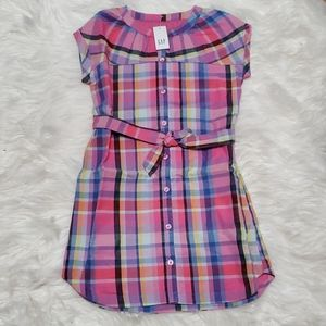 NWT: GIRLS GAP PLAID T-SHIRT DRESS